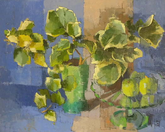 Blue Still Life with Ivy