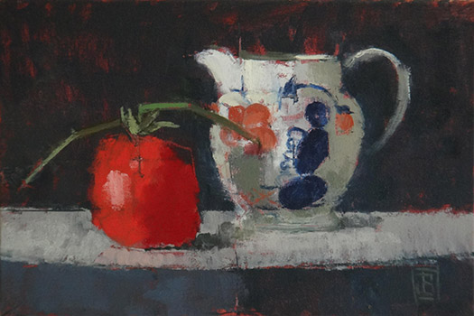 Gaudy Jug with Tomato