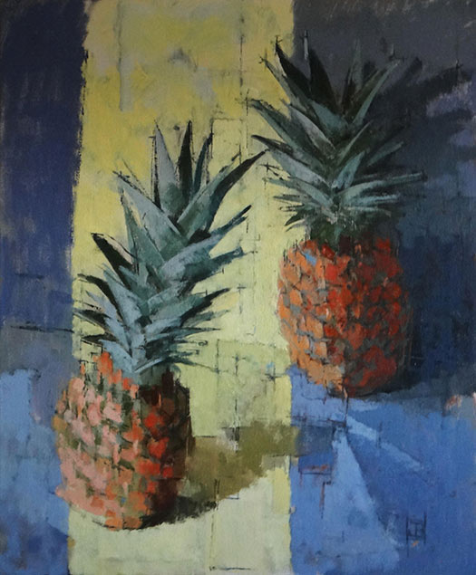 Pinapples with Yellow Stripe